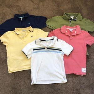 Janie & Jack boys bundle polo shirts 7&8